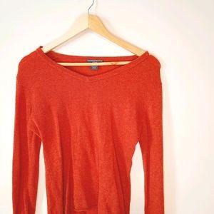 Chelsea & Theodore 100% Cashmere Orange Sweater
